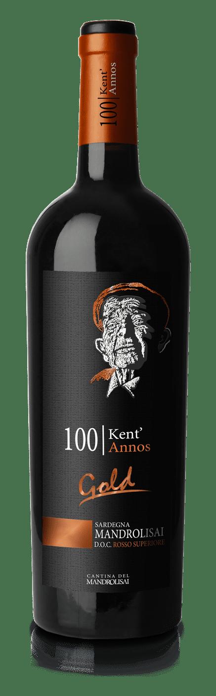 Vino rosso - Bottiglia di Mandrolisai D.O.C. Rosso Superiore Gold - Linea Kent'Annos
