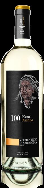 Linea Kent'Annos - Bottiglia di Vermentino di Sardegna D.O.C. Cantina Mandrolisai