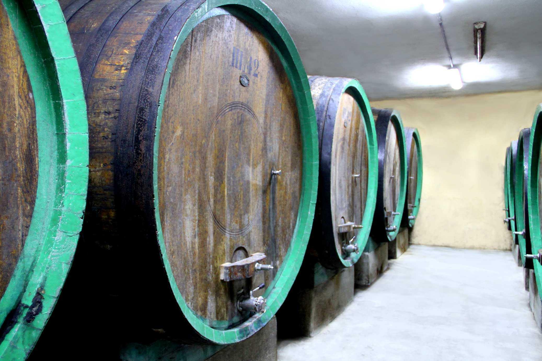 Produzione vino in Sardegna - Cantina del Mandrolisai - Botte